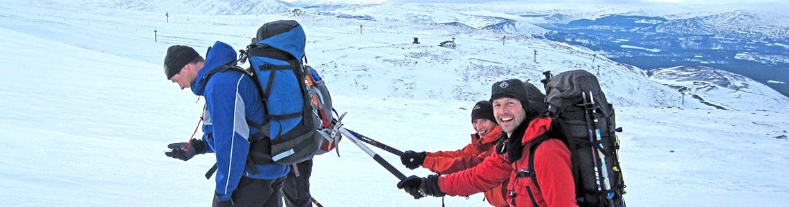 winter walking guided and beginners courses